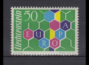 Liechtenstein EUROPA - Marke 1960 Mi.-Nr. 398 postfrisch in einwandfreier Erh.