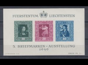Liechtenstein 1949 Block 5 einwandfrei postfrisch **