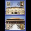 Liechtensten Blumen 2005 Mi.-Nr. 1389-1390 + China-Ausgabe auf 2 Maximumkarten