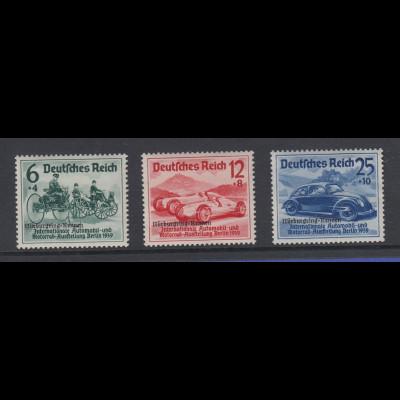 Deutsches Reich 1939 Automobile Nürburgring-Rennen Mi.-Nr. 695-97 kpl. Satz **
