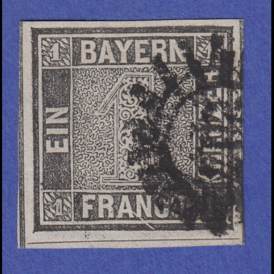 altdeutschland bayern schwarzer einser mit plf xiv gestempelt tilman dohren briefmarken m nzen. Black Bedroom Furniture Sets. Home Design Ideas