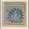 Bayern, Mi.-Nr 2I sauber gestempelt mit Mühlradstempel, gepr. PFENNINGER