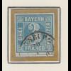 Bayern, Mi.-Nr 2I sauber gestempelt mit Ortsstempel AUGSBURG