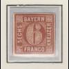 Bayern 6 Kreuzer braun Mi.-Nr. 4 II Platte 1 sauber ungebraucht