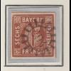 Bayern 6 Kreuzer braun Mi.-Nr. 4 II Platte 1 gestempelt mit GMR 294