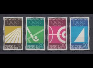 Bundesrepublik 1969 Olympische Sommerspiele 1972 München Mi.-Nr. 587-590 **