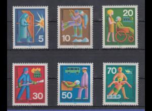 Bundesrepublik 1970 Freiwillige Hilfsdienste Mi.-Nr. 629-634 **
