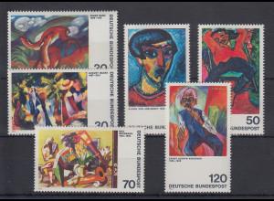 Bundesrepublik 1974 Expressionisten 6 Werte Mi.-Nr. 798-99,816-17,822-23 **