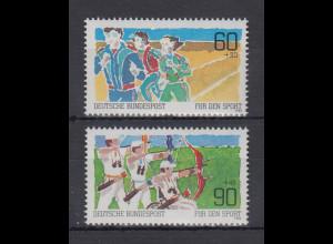 Bundesrepublik 1982 Sporthilfe Breiten-u. Behindertensport Mi.-Nr. 1127-1128 **