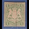 Bayern 1867 Wappenausgabe geschnitten 1 Kreuzer grün * gepr. Brettl BPP