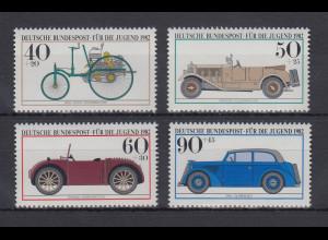 Bundesrepublik 1982 Jugend Historische Kraftfahrzeuge Mi.-Nr. 1123-1126 **