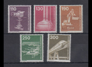 Bundesrepublik 1982 Freimarken Industrie und Technik Mi.-Nr. 1134-1138 **