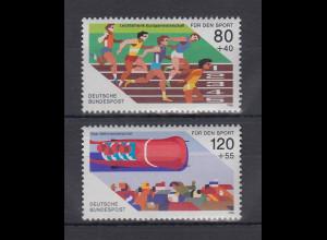 Bundesrepublik 1986 Sporthilfe Leichtathletik / Viererbob Mi.-Nr. 1269-1270 **