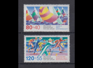 Bundesrepublik 1987 Sporthilfe Segel-Weltmeisterschaften Mi.-Nr. 1310-1311 **