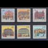 Bundesrepublik 1991 Wohlfahrt Historische Posthäuser Mi.-Nr. 1563-1568 **