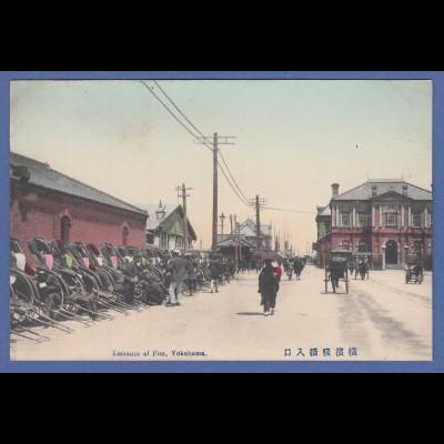 historische AK Japan Yokohama Zugang zum Pier , um 1900