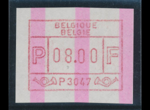 Belgien FRAMA-ENDSTREIFEN-ATM P 3047 **