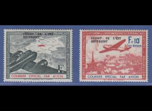 Dt. Besetzung 2.WK, Frankreich Flugpostmarken mit Aufdruck Mi.-Nr. IV und V **