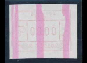 Belgien FRAMA-ATM P3040 mit ENDSTREIFEN, Wertstufe 08,00 SELTEN !