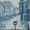 Saarland 1948 großer Hochwasser-Block 1 in Type IV postfrisch **