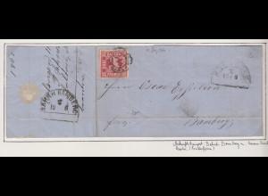 Bayern 3 Kreuzer rot Mi.-Nr. 9 mit GMR 114 auf Brief von Erlangen nach Bamberg