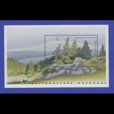 Bundesrepublik 2002 Blockausgabe Nationalpark Hochharz Mi.-Nr. Block 59 **