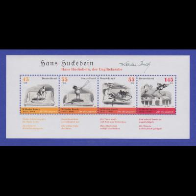 Bundesrepublik 2007 Blockausgabe Wilhelm Busch Hans Huckebein Mi-Nr. Block 71 **