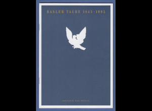 Schweiz 1995 Gedenkfolder BASLER TAUBE 1845-1995 mit Block ** und mit ET-O.