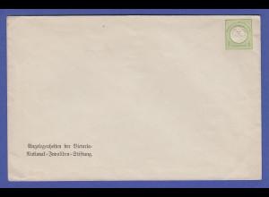 Dt. Reich Brustschild 1/3 Gr. privater GA-Umschlag Victoria-Invaliden-Stiftung