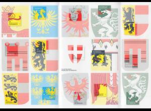 Österreich 2017 Dauerserie Heraldik Exklusiv-Zusammendruckbogen für Abonnenten