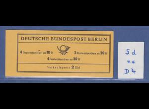 Berlin Brandenburger Tor Markenheftchen MH 5d postfrisch **