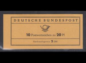 20Pfg J.S.Bach Markenheftchen MH 9u postfrisch **