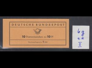 Bund Heuss 10Pfg Markenheftchen MH 6g postfrisch **