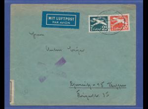 Danzig 1939, Luftpostmarken auf Brief gel. nach Chemnitz, zollamtlich geöffnet.