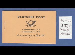 DDR Markenheftchen MH 4 a 1 postfrisch ** (HBL alle oben durchgez.)