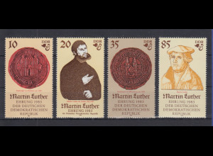 DDR 1982 Satz 4 Werte 500. Geb. von Martin Luther Mi.-Nr. 2754-57 **