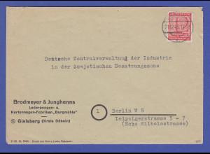 SBZ West-Sachsen 12Pfg Postmeistertrennung Roßwein Mi.-Nr. 119 CX als EF gepr.