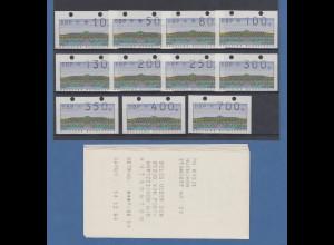 Deutschland ATM Sanssouci Typ K Tastensatz TS2 11 Werte 10-700 Pfg mit OGL + AQ