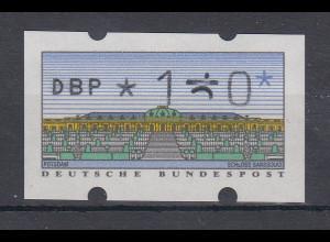 Deutschland ATM Mi.-Nr. 2.1.1 Wert 120 mit totalem JUSTIERFEHLER