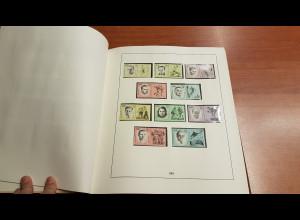 DDR 1963-69 saubere Sammlung ** im alten LINDNER Vordruck
