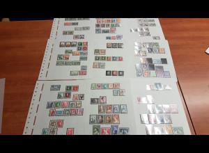 Griechenland 1924-1997 kleine Sammlung auf 25 Blättern, */**/O
