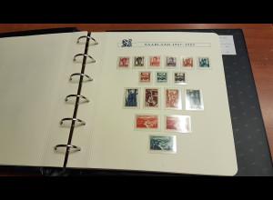 Sammlung Saarland ** im Borek-Album mit vielen besseren Ausgaben