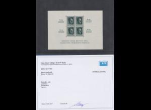 Deutsches Reich Block Reichsparteitag 1937 Mi-Nr. Block 11 ** in Attest-Qualität
