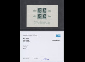 Deutsches Reich Block Kulturförderung 1937 Mi-Nr. Block 9 ** in Attest-Qualität