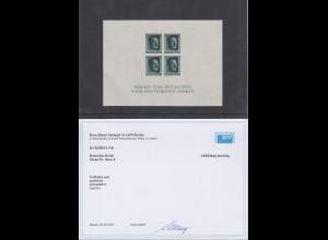 Deutsches Reich Block Briefm.-Ausst. 1937 Mi-Nr. Block 8 ** in Attest-Qualität