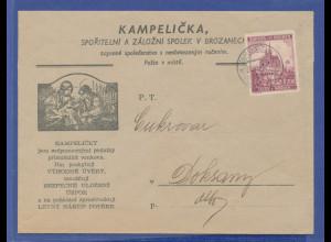 Böhmen und Mähren, Mi.-Nr. 29 auf Brief aus Brozanech.