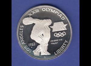 USA Silbermünze Olympische Spiele Los Angeles 1984