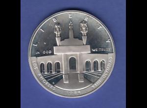 USA Silbermünze Olympische Spiele Los Angeles 1984 Portal Olympiastadion
