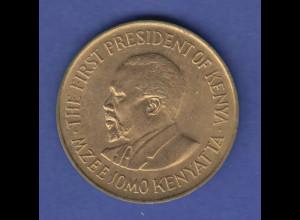 Kenya Kursmünze 10 Cent 1977 Präsident Kenyatta