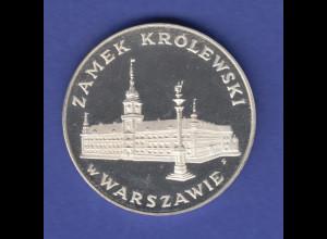 Polen Silbermünze 1975 Königssschloss in Warschau Ag 625 PP